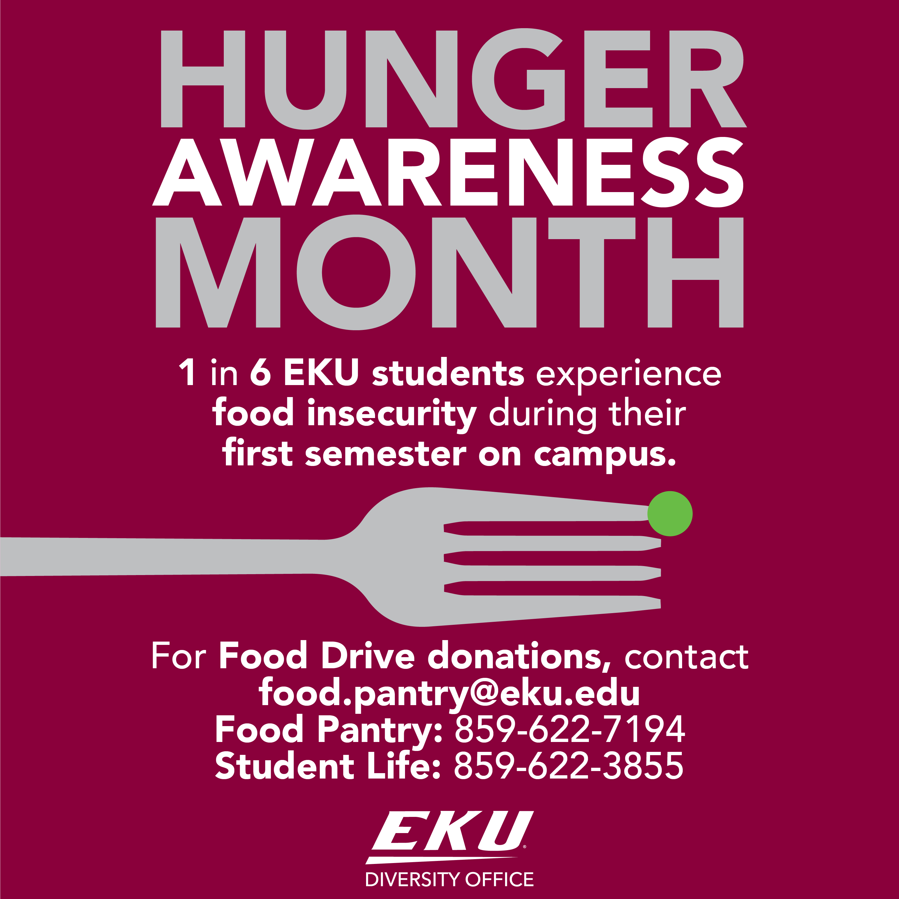 November is hunger awareness month diversity eastern for Food pantry richmond ky