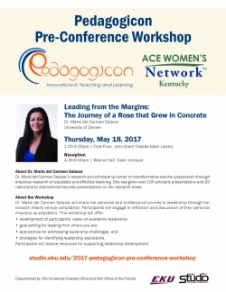 EKU Pedagogicon Pre-Conference Workshop
